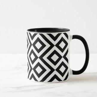 Méandre noir et blanc tasse