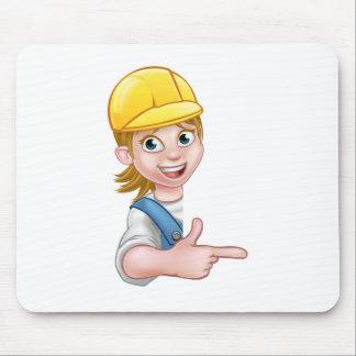 Mécanicien ou plombier de charpentier de bricoleur tapis de souris