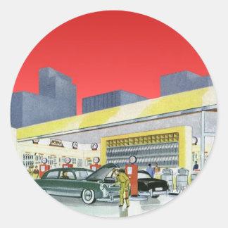 Mécaniciens automobiles complets vintages de sticker rond