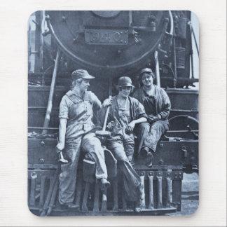 Mécanique locomotive de femmes 1918 WWI Tapis De Souris
