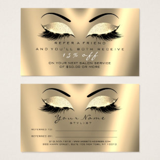 Mèches de lux d'or de noir de parties cartes de visite
