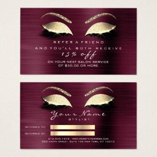 Mèches du lux VIP d'or de scintillement de carte
