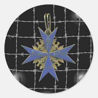 Médaille de German Pour Le Merit Sticker Rond