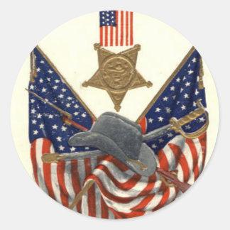 Médaille Eagle de guerre civile des syndicats de Sticker Rond