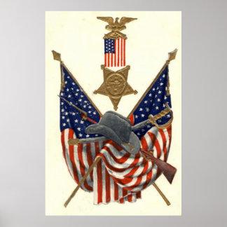 Médaille Eagle de guerre civile des syndicats de d Affiches