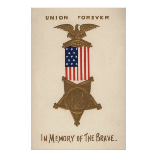 Médaille Eagle de guerre civile des syndicats de d Posters