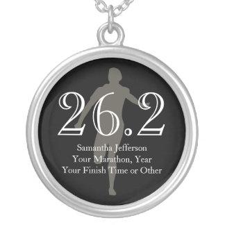 Médaille personnalisée de souvenir du marathonien pendentif rond