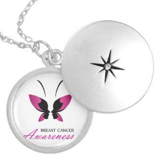 Médaillon Avec Fermoir Appui de conscience de cancer du sein