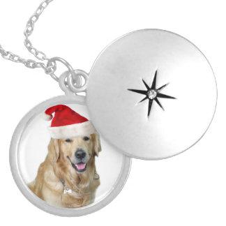 Médaillon Avec Fermoir Chien-animal familier de Labrador Noël-père Noël