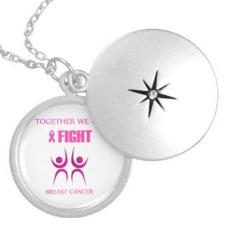 Médaillon Avec Fermoir Ensemble nous pouvons combattre le cancer du sein