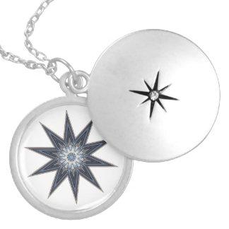 Médaillon Avec Fermoir Étoile de lumière de point de Pemaquid