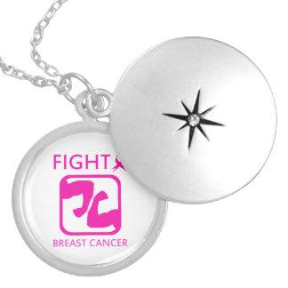 Médaillon Avec Fermoir Fléchissement des bras pour combattre le cancer du