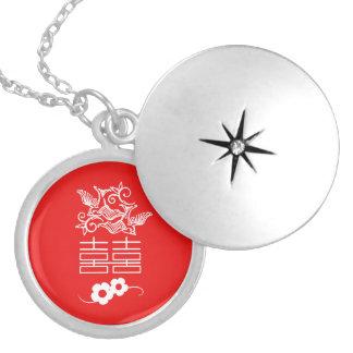Médaillon Avec Fermoir Inséparables - double bonheur - bijoux de Feng