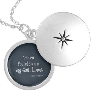 Médaillon Avec Fermoir J'ai trouvé celui mon vers de bible d'amours d'âme