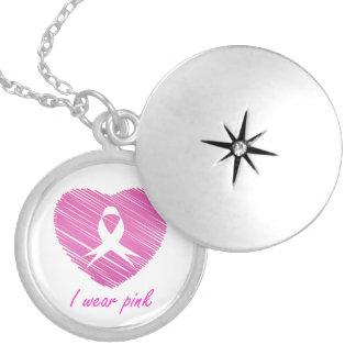 Médaillon Avec Fermoir Je porte le symbole de conscience de cancer du