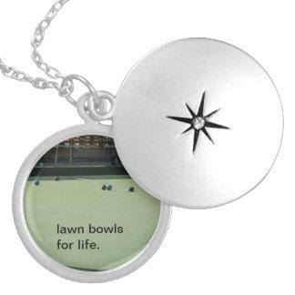 Médaillon Avec Fermoir Lawn_Bowls_For_Life_Silver_Necklace,