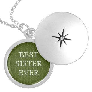 Médaillon Avec Fermoir Les meilleures étoiles de vert de soeur jamais et
