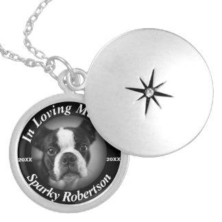 Médaillon Avec Fermoir Mémorial argenté de chien