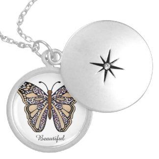 Médaillon Avec Fermoir Papillon de léopard
