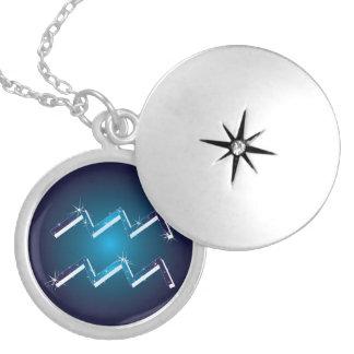 Médaillon Avec Fermoir signe de zodiaque de Verseau