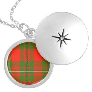 Médaillon Avec Fermoir Tartan d'écossais de Macgregor