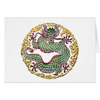 Médaillon de dragon carte de vœux