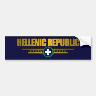 Médaillon de la république Grecque (Grèce) Autocollant Pour Voiture