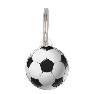 Médaillon Pour Animaux Ballon de football blanc noir du football