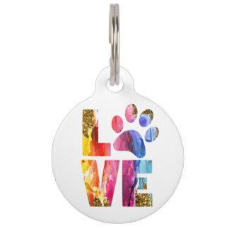 Médaillon Pour Animaux Chat, patte d'amoureux des chiens. Aquarelle Art.