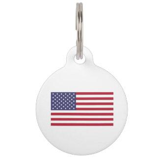 Médaillon Pour Animaux Drapeau américain