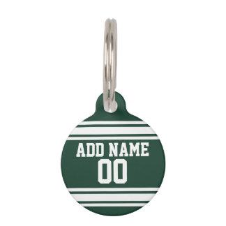 Médaillon Pour Animaux Équipe Jersey avec le nom et le nombre faits sur