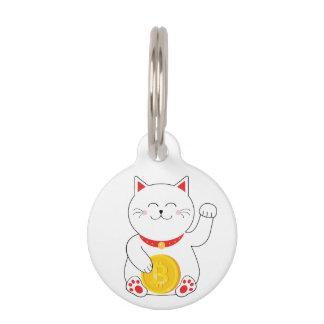 Médaillon Pour Animaux Étiquette chanceuse d'animal familier de Bitcoin