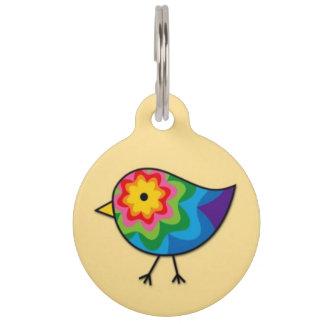 Médaillon Pour Animaux Étiquette colorée d'identification d'animal