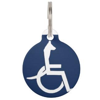 Médaillon Pour Animaux Étiquette d'animal familier de fauteuil roulant de