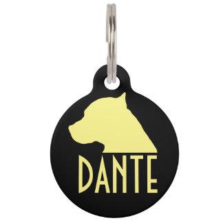 Médaillon Pour Animaux Étiquette d'animal familier de pitbull