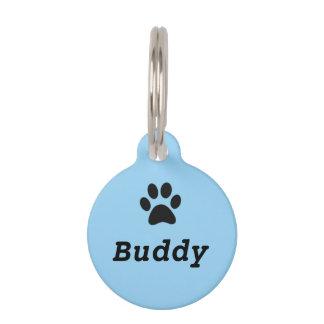 Médaillon Pour Animaux Étiquette d'animal familier d'empreinte de patte