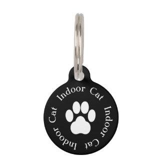 """Médaillon Pour Animaux Étiquette de chat d'empreinte de patte """"de chat"""