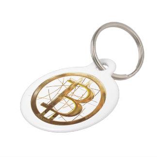 Médaillon Pour Animaux Étiquette de chien de Bitcoin (grande étiquette