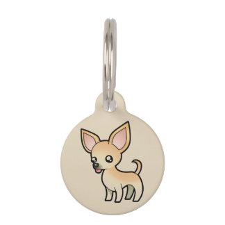 Médaillon Pour Animaux étiquette de chien de chiwawa