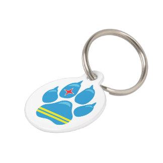 Médaillon Pour Animaux Étiquette d'identification de chien de PATTE de