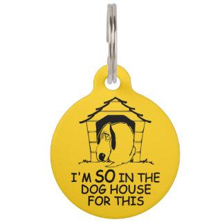Médaillon Pour Animaux Étiquette faite sur commande d'animal familier de