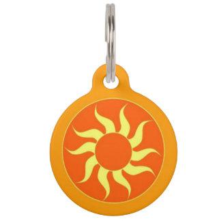Médaillon Pour Animaux Étiquette orange d'identification d'animal