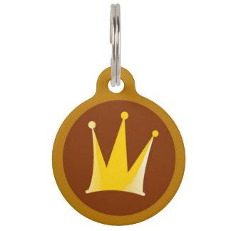 Médaillon Pour Animaux Étiquette royale d'identification d'animal
