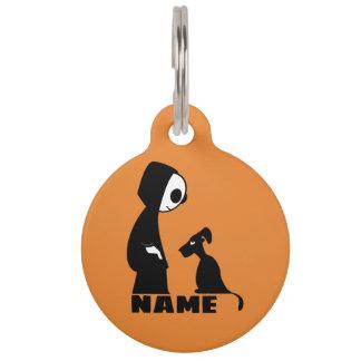 Médaillon Pour Animaux Grande étiquette ronde d'animal familier