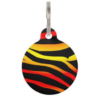 Médaillon Pour Animaux Le tigre customisé barre l'étiquette d'animal