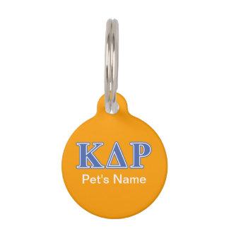 Médaillon Pour Animaux Lettres de bleu de thêta de Kappa de phi
