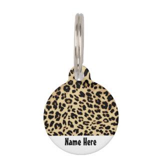 Médaillon Pour Animaux Noir/or de poster de animal de motif de léopard