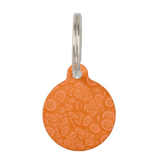 Médaillon Pour Animaux Orange 45s abstrait
