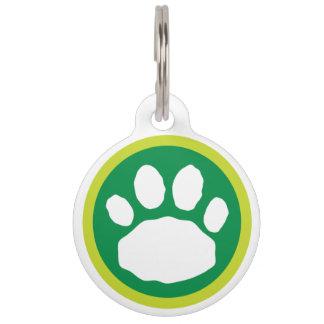 Médaillon Pour Animaux Patte du jour de St Patrick vert