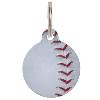 Médaillon Pour Animaux Points de base-ball